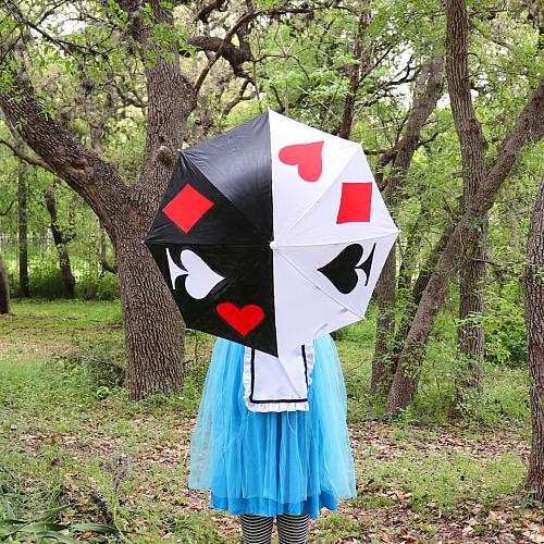 Queen of Hearts Painted Umbrella