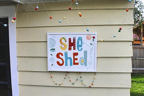 Bright Boho She Shed Sign