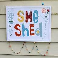 Boho She Shed Sign