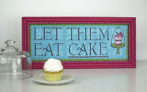 Let Them Eat Cake Stenciled And Painted Tray Project By Decoart