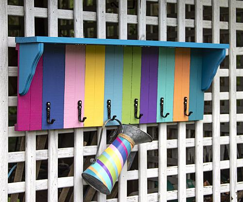 Bright DIY Outdoor Catch-All