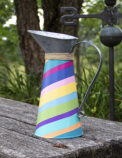 Chevron Painted Watering Can