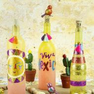 Festive Fiesta Glass Bottles