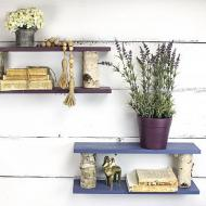 Floating Shelves with Birch