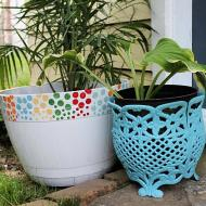 Colorful Planter Makeovers