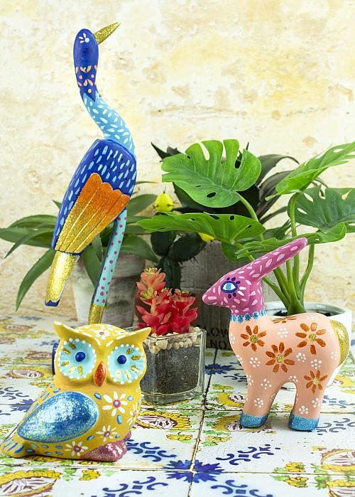Colorful Mexican Folk Art Figurines