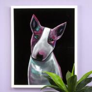 Velvet Dog Portrait
