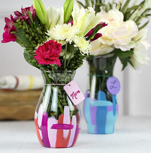 Bright Brushstroke Vase