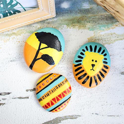 Lion King-Inspired Painted Rocks