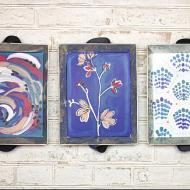 Modern Art Tray Set