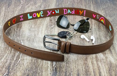 Hand-Painted Message on Daddy's Belt