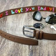 Hand-Painted Belt for Daddy