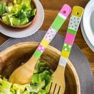 Bright and Colorful Salad Tongs