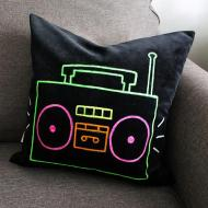 Neon Boom Box Pillowcase