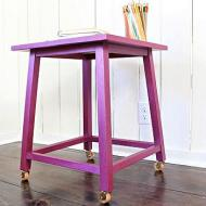 Metallic Painted Side Table