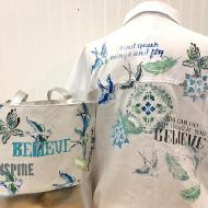 Artful Journey Shirt and Bag