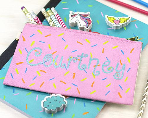 Sprinkles Pink Pencil Pouch
