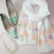 Painted Shoes and Scarf
