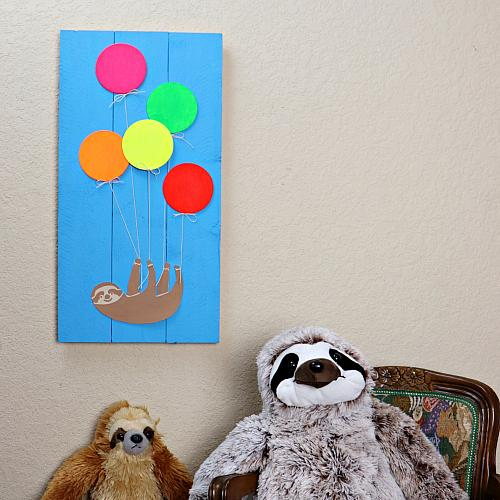 Party Wall Art with Sloth