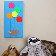 Party Sloth Wall Art