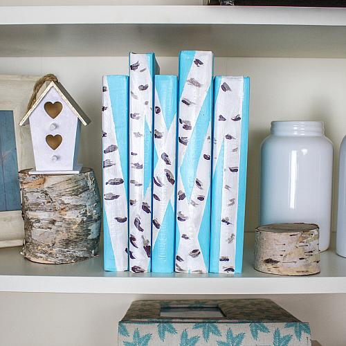 Painted Birchwood Book Décor
