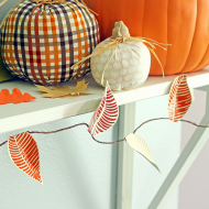 Textured Fall Leaf Garland