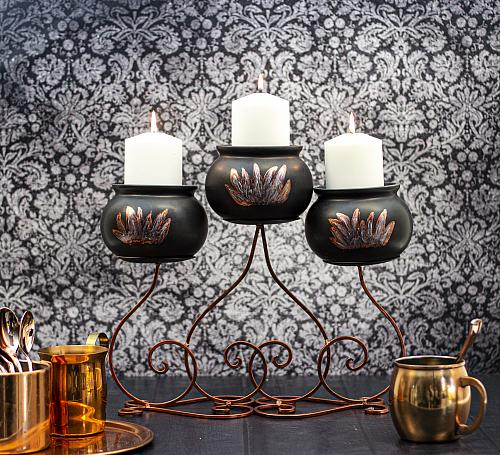Spooky Candelabra with Cauldrons
