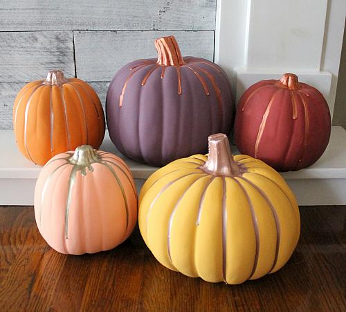 Contemporary Painted Pumpkins