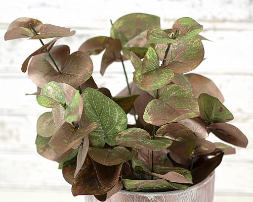 Metallic Dusted Faux Leaves for Fall Décor