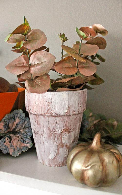 Textured Clay Pot for Fall