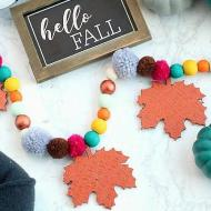 Fall Wood Bead Garland