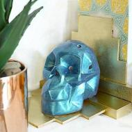 Iridescent Skull Bookends