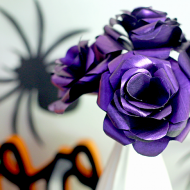 Iridescent Halloween Paper Flowers