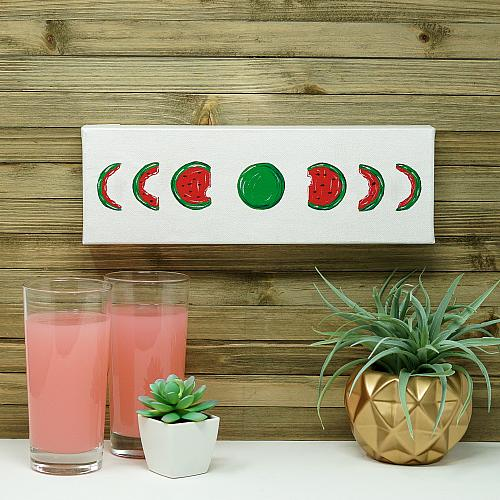 Watermelon Phases of the Moon