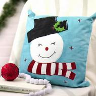 Retro Snowman Pillow