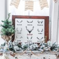 DIY Reindeer Christmas Sign