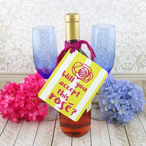 Hand-Painted Rosé Gift Tag