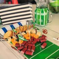Football-Inspired Painted Tray