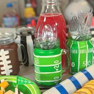 Football-Inspired Painted Glassware