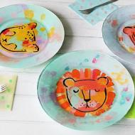 Wild Cat Painted Plates