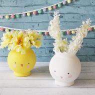 Chick and Bunny Vases