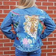 Painted Jean Jacket | Painted Tiger