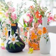 Anthropologie-Inspired Floral Vases