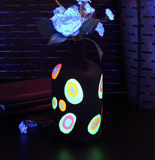 Mod Black Light Neon Vase