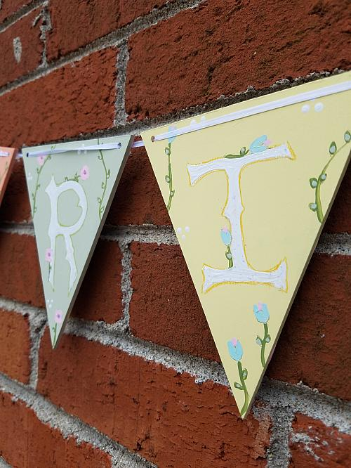 Reversible Spring/Easter Bunting Décor