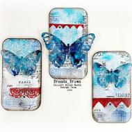 A Trio of Mixed Media Butterflies