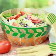 Salad Bowl with Leaves