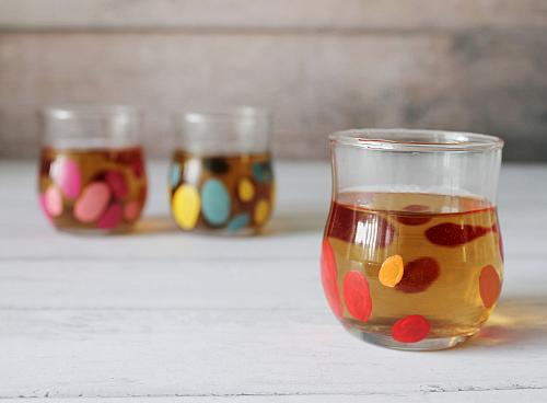 Colorful Confetti Tea Glasses