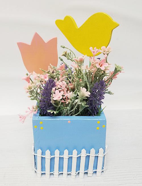 Spring Boxed, Pearlized Centerpiece