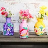 Painterly Floral Vase Trio